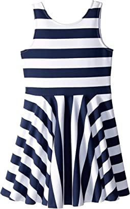 aa4c23186 Newport Navy/White. 11. Polo Ralph Lauren Kids. Striped Ponte Sleeveless  Dress (Little Kids/Big Kids)