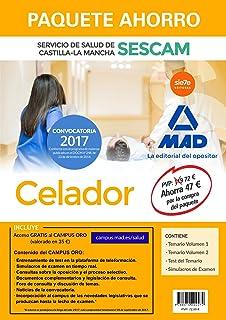 Paquete Ahorro Celador del Servicio de Salud de Castilla-La Mancha (SESCAM). Ahorra 47   (incluye Temario volúmenes 1 y 2; Test; Simulacro de examen y acceso Campus Oro)