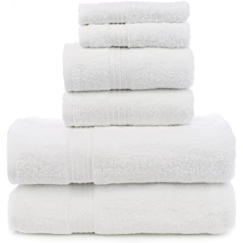 Chakir Turkish Linens Soft Touch Linen Terry Cloth Towel Set, 2 Bath Towels, 2 Hand Towels, 2 Washcloths, White