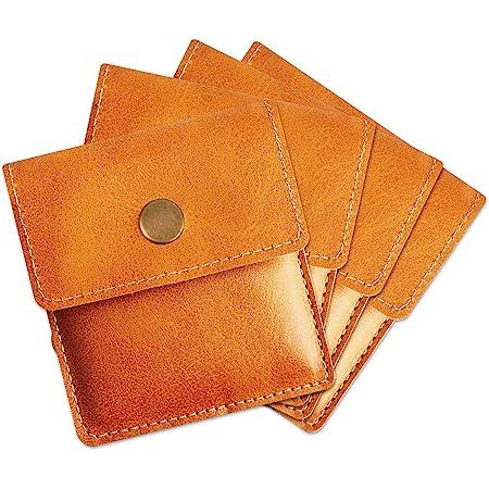[TEMLUM] 携帯灰皿 携帯用吸殻入れ 4点セット購入 高級 PU  小銭入れ 携帯はい皿 おしゃれ ポケット入れ 小型 マナーを守る サイズ (キャメル)