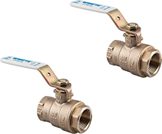 Watts 3/4LFFBV 3/4-Inch Brass Full Port Ball Valve IPS Thread Ends Lead Free NSF & CSA (2-Pack)