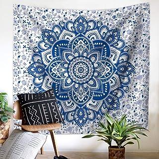 YUNMO Mandala Tapestry Elephant Print Mandala Bohemian Home Decor (Color : A, Tamaño : 200X150)