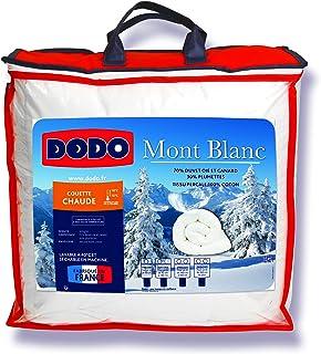 DODO - Couette Chaude Mont Blanc 240X260 - Densité 300g/m2 - Garnissage Duvet d'Oie Plumettes - Housse 100% Percale de Cot...