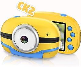 Richgv Cámara Digital Inteligente para Niños con Función de Conexión WiFi, Cámara de Video para Niños Pantalla de 2,8 '' HD, Juguetes y Regalos para Niños Mayores de 3 Añosa (Amarillo)