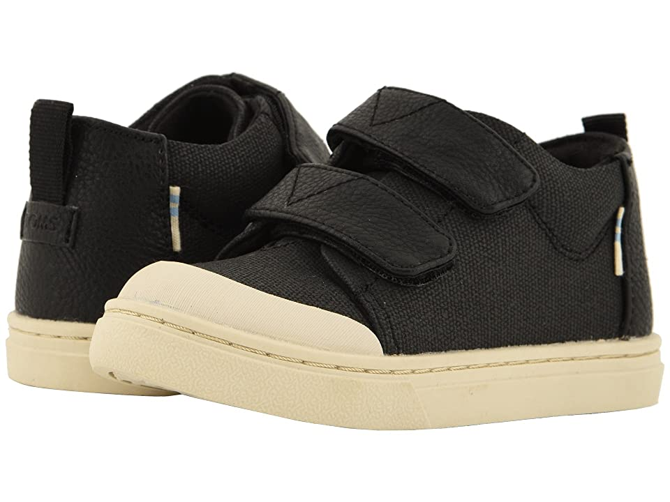 TOMS Kids Lenny Mid (Infant/Toddler/Little Kid) (Black Textural Canvas) Kid