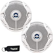 JBL MS6520B OEM Replacement Speakers - Marine 6.5 Inch Two-Way Speakers - Pair, White
