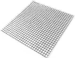 ROSEROSA Peel and Stick Tile Metal Backsplash for Kitchen, Wall Tiles Aluminum Surface : Pack of 5 (Metal-307)