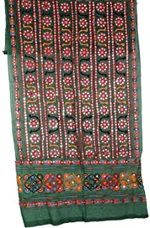 Rajasthani Indian Heavy Kutch Work Dupatta Women's Stole long Veil scarves Hijab Wedding Party Wear