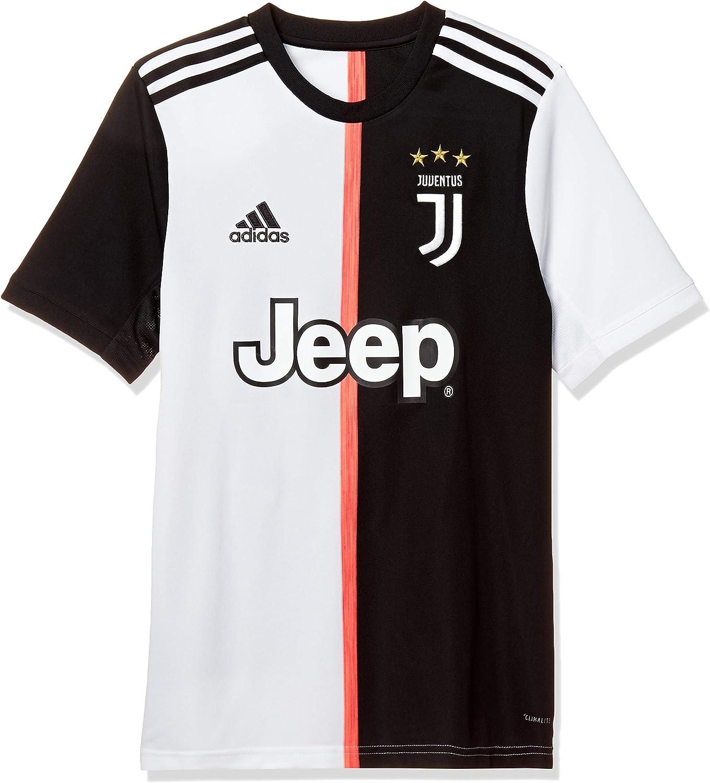 amazon com adidas juventus 2019 20 kids short sleeve home football shirt black white clothing adidas juventus 2019 20 kids
