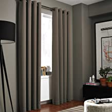 Kenneth Cole Reaction Home Gotham Texture 95-Inch Lined Grommet Window Curtain Panel in Mocha