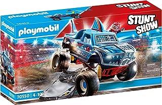 Playmobil - Stuntshow - Monster Truck Requin avec 1 Personnage Cascadeur - Accessoires Inclus