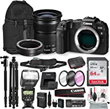 Canon EOS RP Mirrorless Digital Camera with EF 24-105mm f/3.5-5.6 STM Lens and Mount Adapter EF-EOS R Kit + 64GB & Tripod/Monopd Travel Photo Platinum Bundle