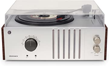 Crosley CR6017A-MA Player Turntable with AM/FM Radio and Aux-In, Mahogany