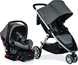 Britax B-Lively Travel System with B-Safe Ultra Infant Care Seat, Gris - Birth to 55 pounds