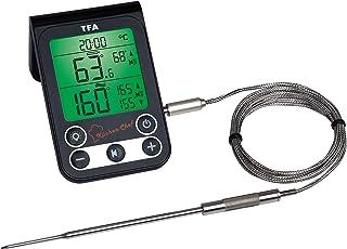 TFA Dostmann Küchen-Chef cyfrowy termometr do grilla/do pieczenia, kontrola temperatury rdzenia i temperatury komory grill...