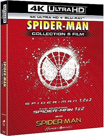 spider-man 4k collection (6 blu-ray 4k ultra hd+6 blu-ray) box set Blu-ray Italian Import