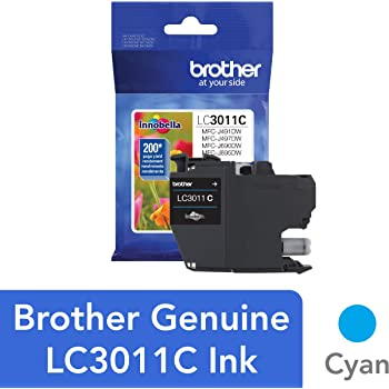 Brother Printer LC3011C Single Pack Standard Cartridge Yield Up to 200 Pages LC3011 Ink Cyan