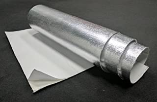 Aluminum & Fiberglass Heat Shield Barrier with Adhesive Backing 12
