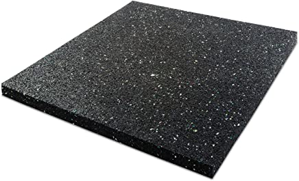 Dalle anti vibration etm® pour machine à laver/sèche linge | épaisseur 2cm | attenue les vibrations - évite dérapage | isolant accoustique - 60x60cm