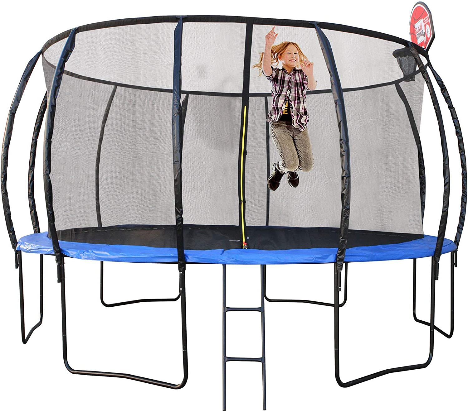 10ft Round Trampoline 305cm Safety Net Pad Cover Mat FREE Basketball Set
