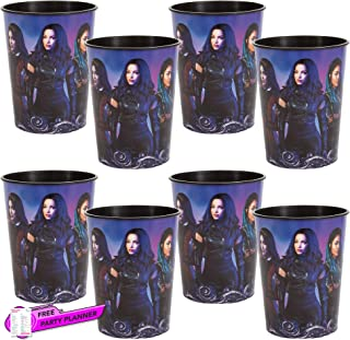 Unique 8 Count Descendants 3 Party Cups | Birthday Party Favors for Kids, Girls, Tweens | Officially Licensed 16 oz
