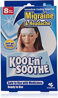 Kool 'n' Soothe Migraine and Headache Cooling Sheets, 6 count - Natural Cooling Relief - Cooling gel sheet