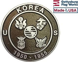 Aluminum Grave Marker Korean War Veteran, Cemetery Memorial Flag Holder, Veteran Plaque, Made in USA