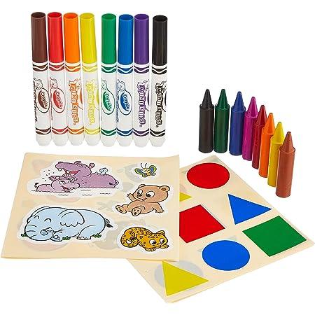 Crayola - Mon premier coffret de coloriage et de gommettes - Loisir créatif - Mini Kids - à partir de 1 ans - Jeu de dessin et coloriage