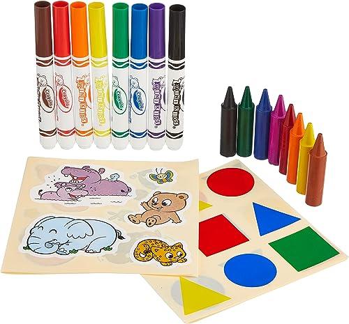 Crayola - Mon premier coffret de coloriage et de gommettes - Loisir créatif - Mini Kids - à partir de 1 ans - Jeu de ...