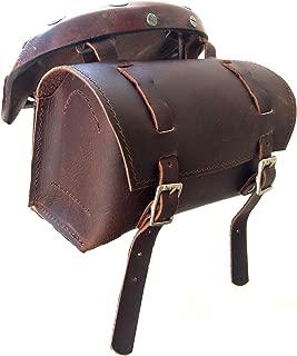 HERTE Genuine Leather Bicycle Saddle Bag Tool kit Utility Vintage Waxed Brown Handlebar