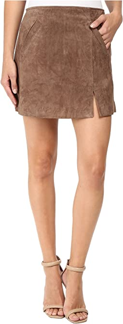 Blank NYC - Camel Suede Mini Skirt in Midnight Toker