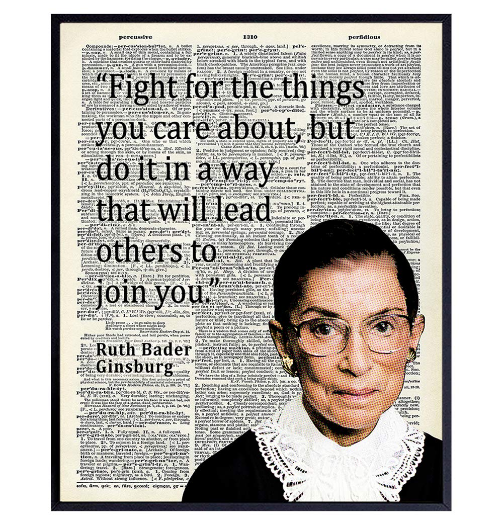 Manufacturer OFFicial shop Omaha Mall Ruth Bader Ginsburg Wall Art - Home Quote RBG Decor Motivational
