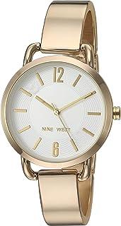 Nine West Reloj de pulsera para mujer, Dorado