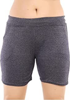 MUKHAKSH (Pack of 1 Girls/Ladies/Women's/Kids Cotton Hot Galander Black Grey Shorts for Gym/Work Out/Casual & Party Wear