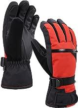 Verabella Men's Thinsulate Insulation Touchscreen Snow Ski Gloves w/Zipper Pocket