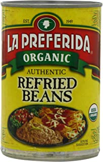 La Preferida Organic Refried Beans, 15 Ounce (Pack of 12)