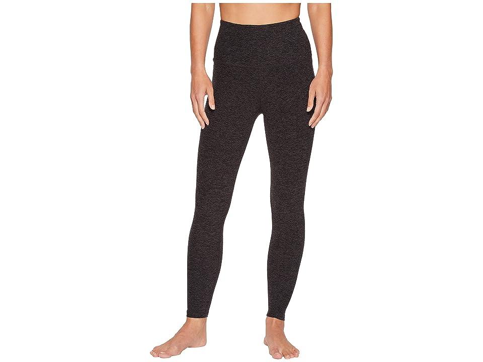 Beyond Yoga Spacedye High-Waist Midi Leggings (Black/Charcoal) Women
