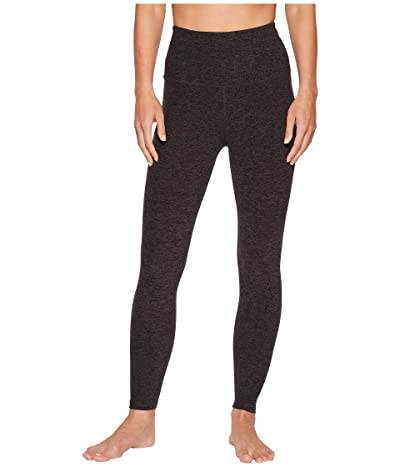 Beyond Yoga Spacedye High Waisted Midi Leggings (Black/Charcoal) Women