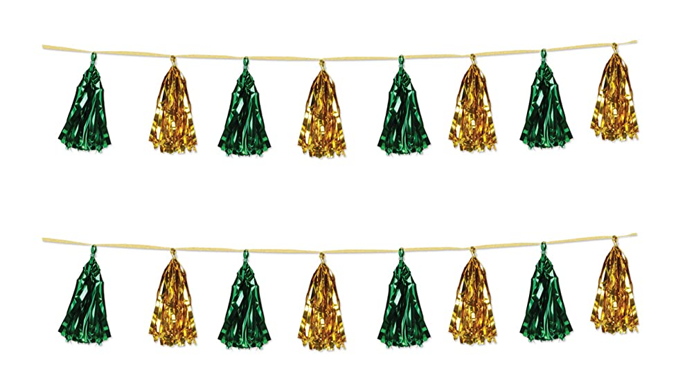 Beistle 59927-GGD Metallic Tassel Garlands 2 Piece, 9.75