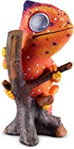 Chameleon Solar Garden Decorations Figurine | Outdoor LED Decor Figure | Light Up Decorative Statue Accents for Yard, Patio, Lawn, Balcony, or Deck | Great Housewarming Gift Idea (Orange, 1 Pack)
