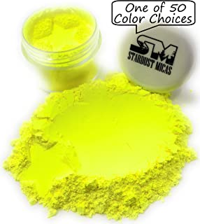 Pigment Powder for Slime Coloring, Soap Making, Epoxy Resin, Bright True Fluorescent Colors Cold Process Stable Matte Dye Colorant Stardust Micas Neon Electric Yellow