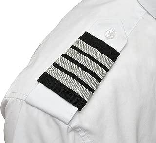 Professional Pilot Uniform Epaulets - Four Bars - Captain