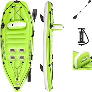 Bestway Hydro-Force Koracle Inflatable Kayak Set | Includes Double-Sided Paddle, Built-In Oar Clasps, Fishing Rod Holders, & Storage Compartments | Convenient & Portable Kayak w/ Hand Pump, Model: 65097E