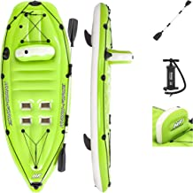 Bestway Hydro-Force Koracle Inflatable Kayak Set | Includes Double-Sided Paddle, Built-In Oar Clasps, Fishing Rod Holders,...