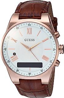 GUESS - Reloj inteligente de acero inoxidable para mujer, co