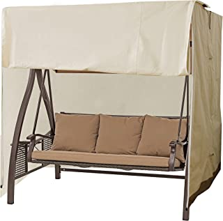 Caymus Outdoor 3-Seater Patio Canopy Swing Cover, Water Resistant 88