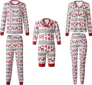 779ddc0f50494 Ensemble Pyjama Noel Famille Père Noël Mère Garçon Fille du Nouveau-né Bébé  Pyjamas à