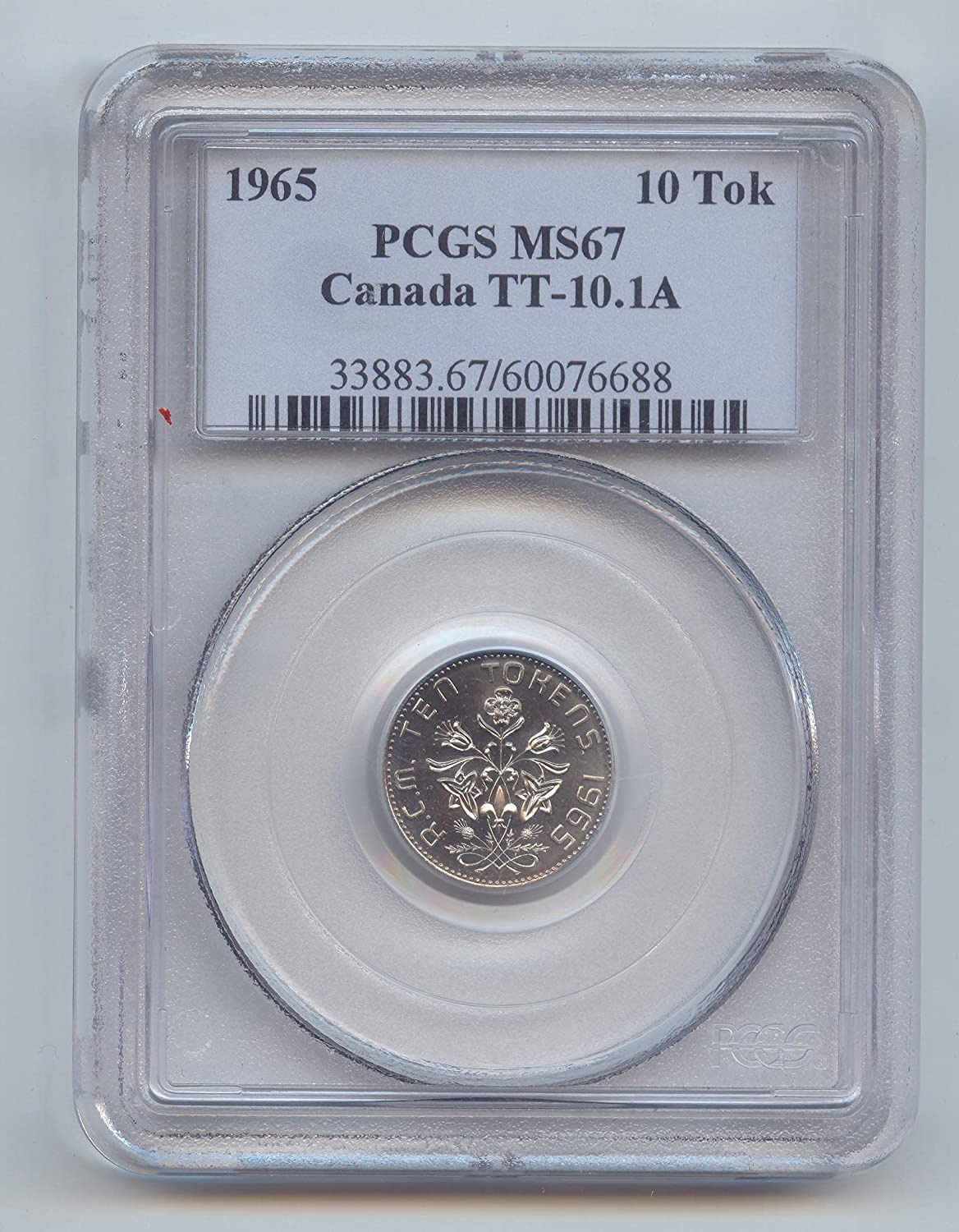 1965 service CA Canada Test Max 90% OFF Token TT-10.1A Cents 10 PCGS MS-67