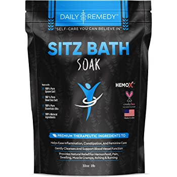 All Natural Sitz Bath Soak with Epsom Salt - Made in USA - for Postpartum Care, Hemorrhoid Treatment, Fissure Treatment & Yoni Steam - Perineal Soaking Bath That Soothes and Cleanses Inflammation.