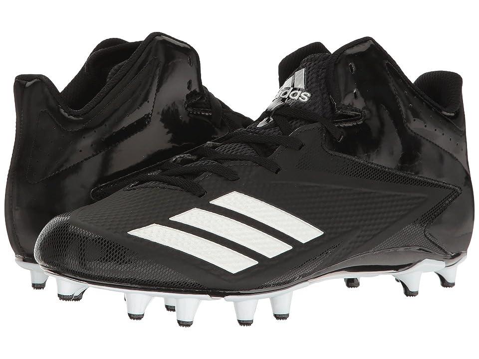 adidas 5-Star Mid Football (Black/White/Silver Metallic) Men